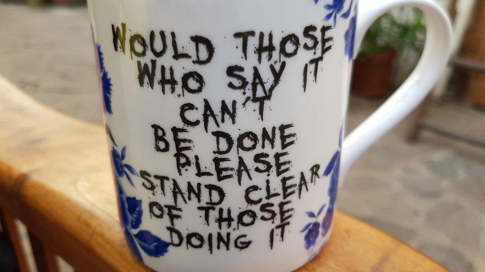 Rockaway Mug (Would Those Who Say...) Blue