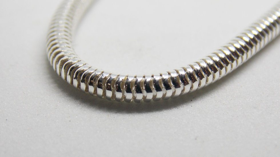 Silver 'Snake' Chain Necklace by Bethany May Silver
