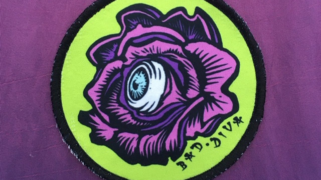 'Rose Vision' patch (pink & green)