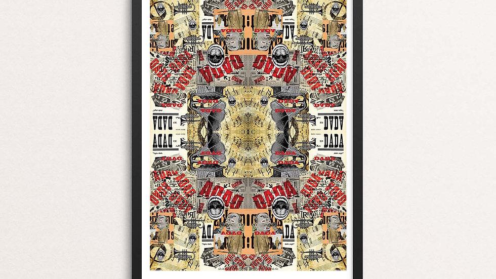 'Dada; A3 print by Lisa Travers