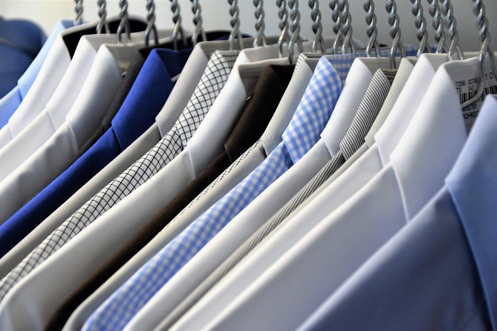 mens shirts on hangers