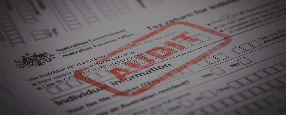 Audit Stamp on a Tax Form