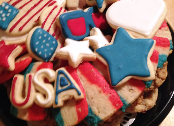 Large July 4 Cookie Tray