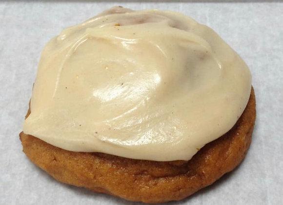 Soft Iced Pumpkin Cookies