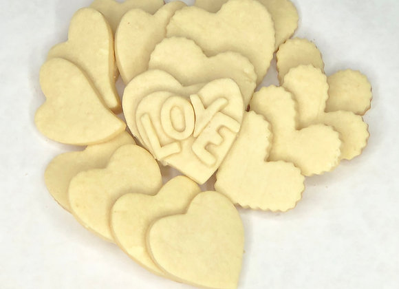 Valentine Butter Cookies (Unfrosted)