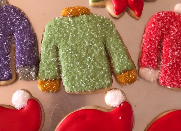 Sparkly Christmas Sweater (6 cookies)