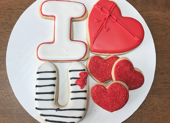 I LOVE YOU COOKIE SET
