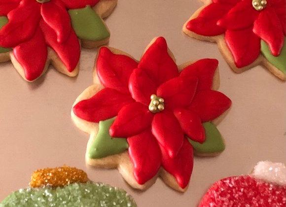 Poinsettia2 Cutouts (6 Cookies)