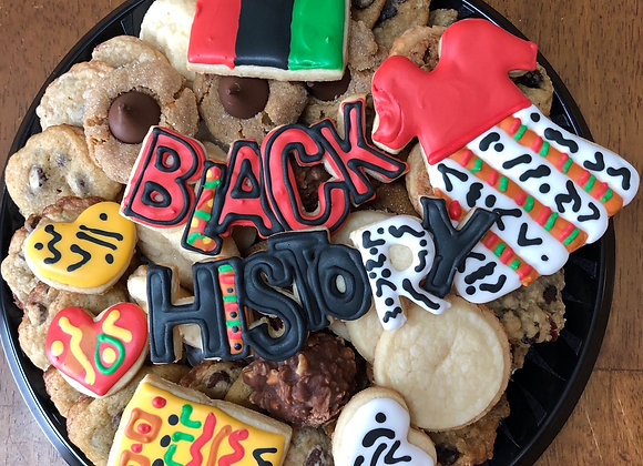 Large Black History Theme Cookie Tray