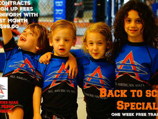 BACK TO SCHOOL SPECIAL at All American MMA in Keller, TX