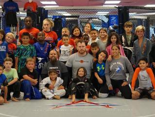 All American Wrestling Club at our gym in Keller, TX!!