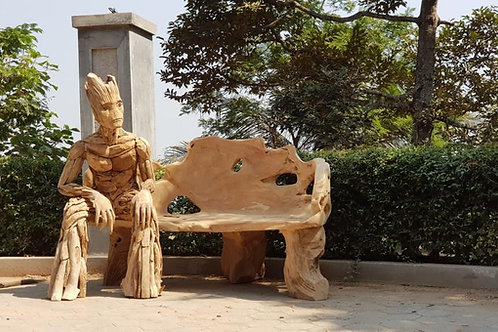 Groote seated on Bench, Top Quality