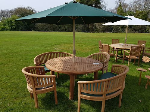FTT-03, round table & stacking chairs