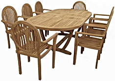 8 charis with table