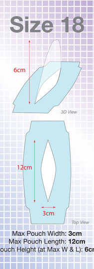 Size 18 Wondaleaf Adhesive Pouch