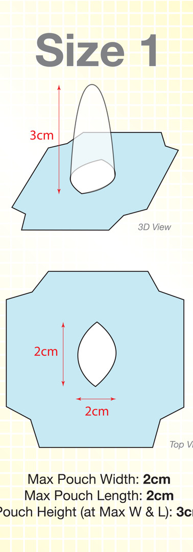 Size 1 Wondaleaf Adhesive Pouch