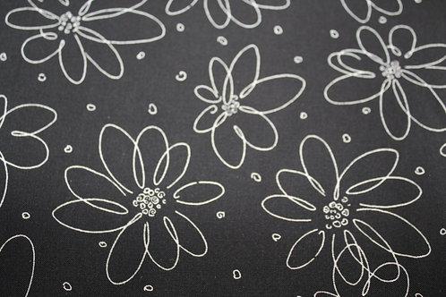 Black Daisy Neck Wrap