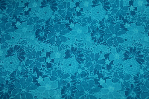 Turquoise Bouquet Half Body Pillow