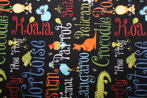 Zoologie Black Children's Body Pillow