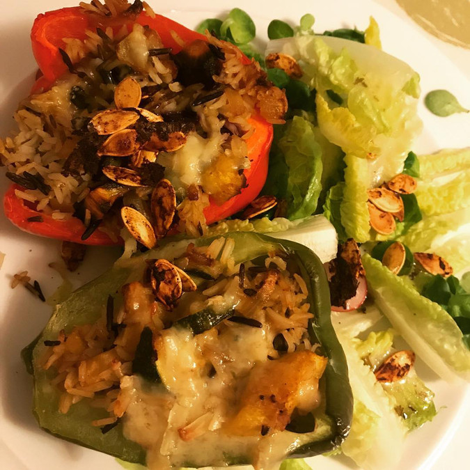 Stuffed veggie peppers