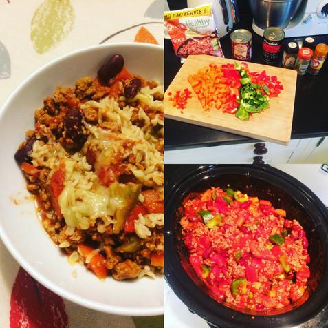 Slow cooker veggie chilli