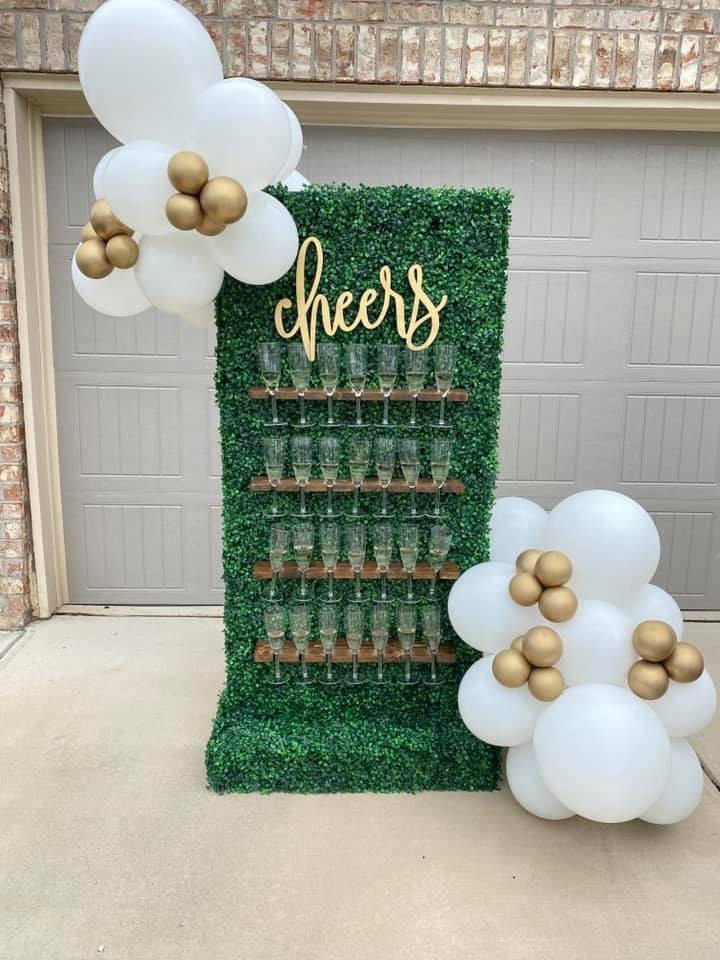 Grass Champagne Wall (Includes Delivery)