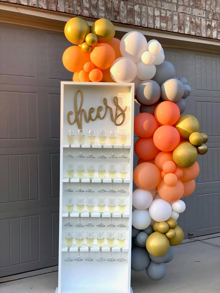 White Champagne Wall (Includes Delivery)
