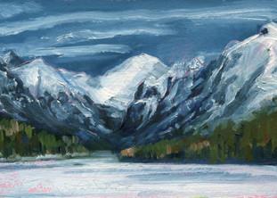 Bowman Lake, Winter
