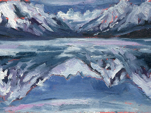 Winter Reflection of Lake McDonald