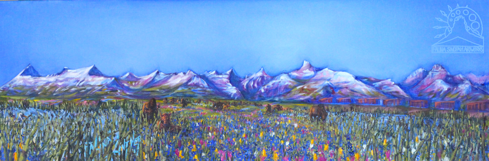 Spring On the Eastern Front with Camas and Bison