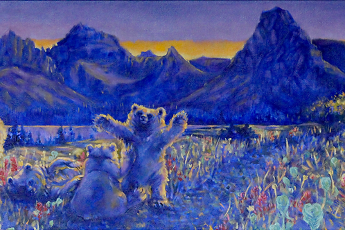 Canvas Print: Two Medicine Grizzly Family