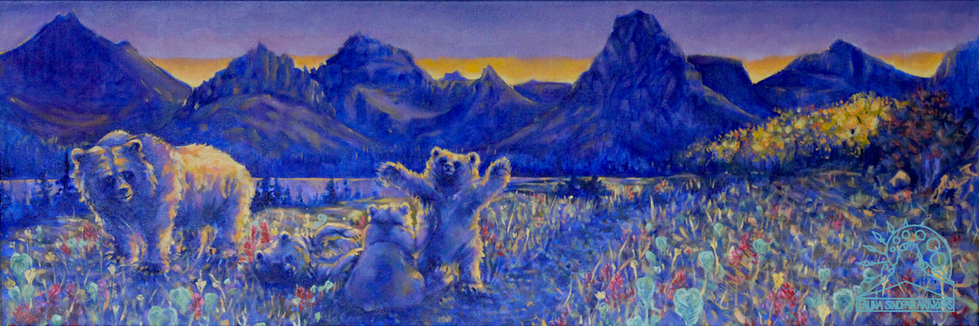 Grizzly Family in Two Medicine