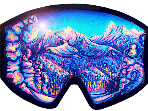 Paper Print: Glacier Through Goggles
