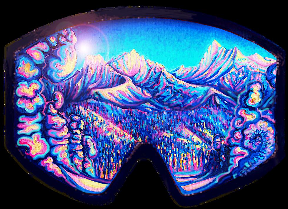 Glacier Through Goggles Sticker Design