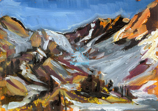 Alpenglow on Holland Peak