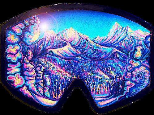 Sticker: Glacier Through Goggles