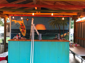 Key West theme mural in Land O'Lakes, FL