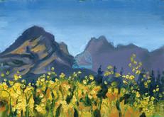 Saffron Aspens and Sacred Dancing Woman Peak