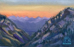 Sunset view from Lion Creek Pass