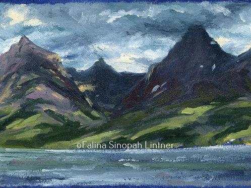 Fine Art Print: Mount Brown, Little Matterhorn and Edwards Mountain