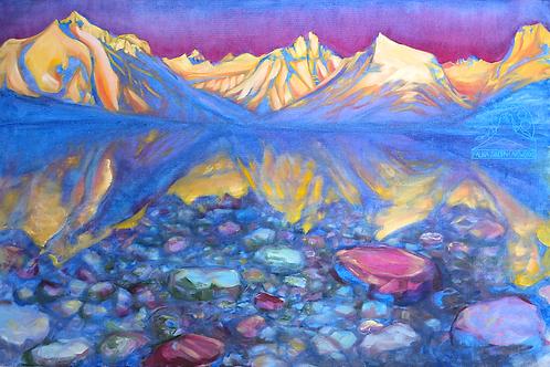 Canvas Print: Alpenglow on Lake McDonald