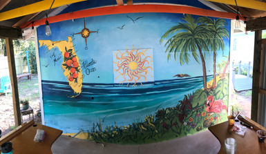 Key West themed mural in Land o'Lakes FL