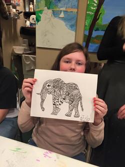 Zentangle Camp - Julia, age 12