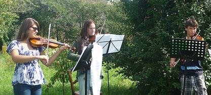 cours de musique en groupe violon alto piano avec l'association Zikaportée dans le Var et les Alpes Maritimes
