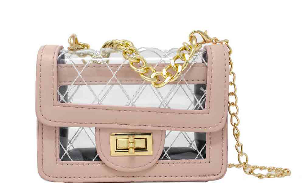"""""""Clear Pink Cheeky"""" Purse"""