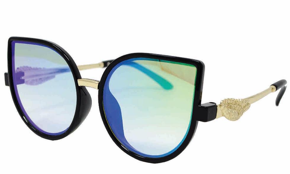 """Candy & Chrome"" Cateye  Fashion Glasses"