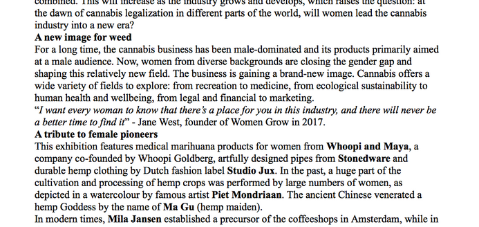 woman in cannabis