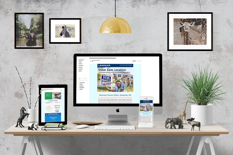 lennar, Ellie Platt, direct mail, email, email design