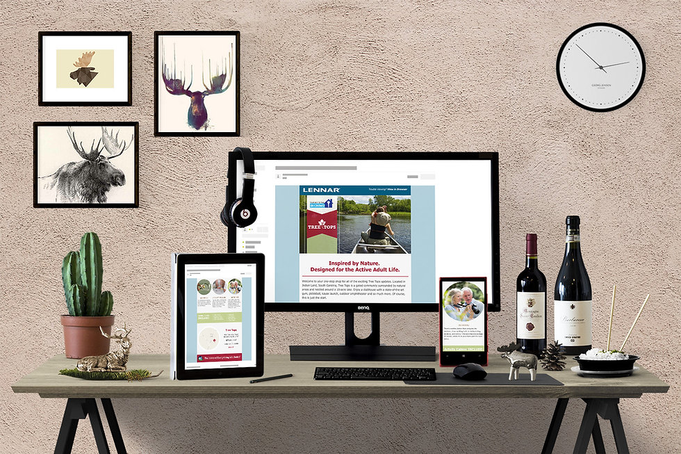 lennar, Ellie Platt, Tree Tops, email design, email,