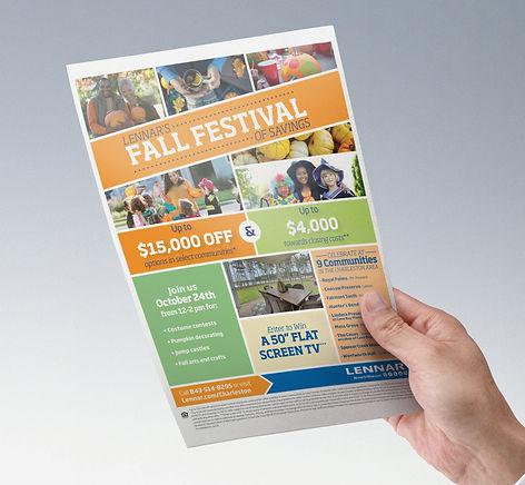 lennar, Ellie Platt, fall festival, flyer design